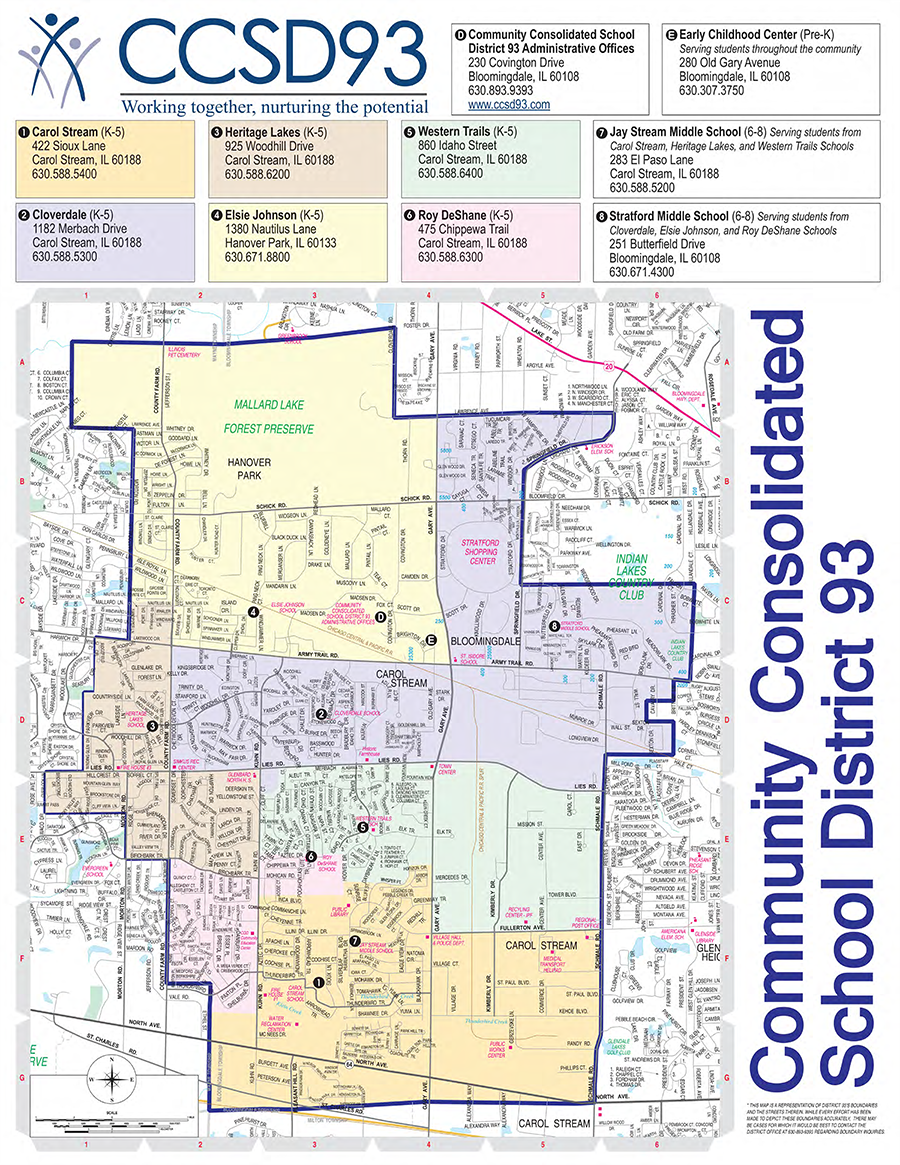 School Directory District And School Boundaries Map