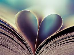 Book in the shape of a heart image