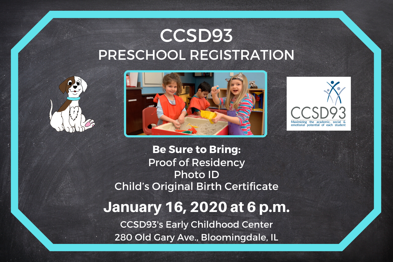 Register for 2020-21 Preschool on January 16 at 6 p.m.